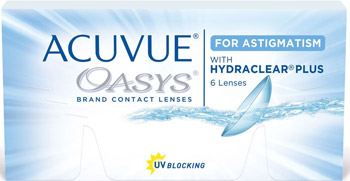 Линзы Acuvue Oasys for Astigmatism with Hydraclear Plus 6 шт