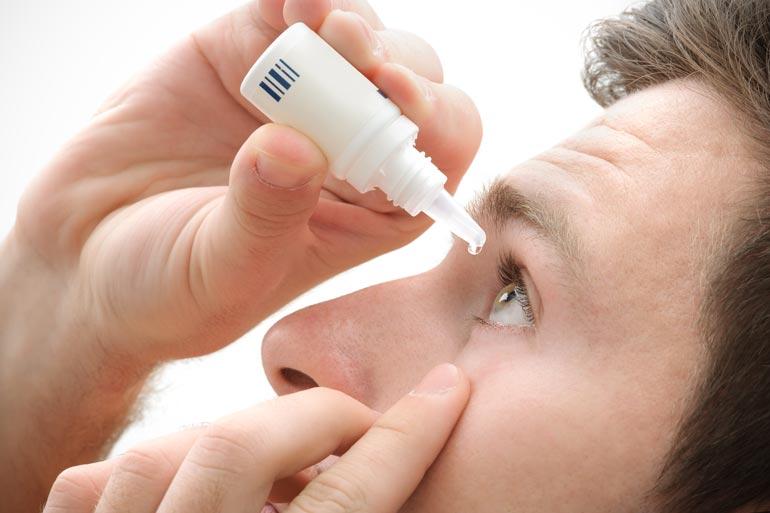 Капли для увлажнения глаз и для расширения зрачка