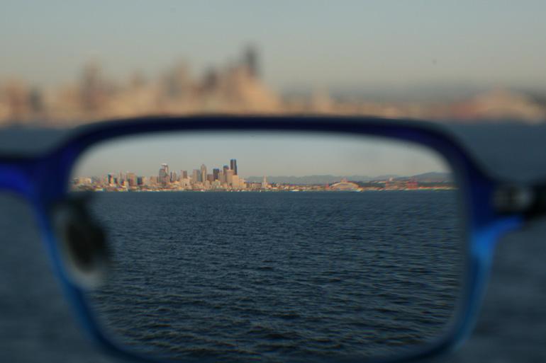 как видит близорукий человек через очки