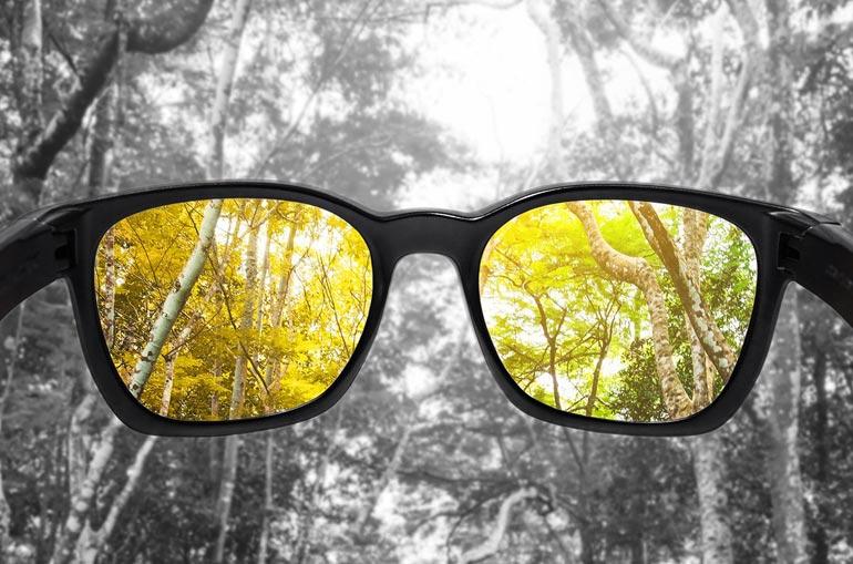 вид через очки