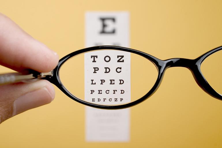 близорукость через очки
